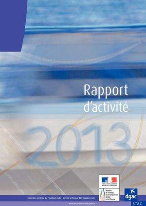 Rapport d'activité 2013 du Service technique de l'aviation civile