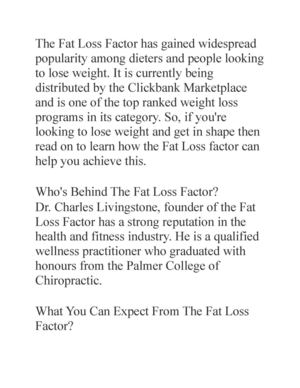 Calameo Fat Loss Factor Review Get The Inside Scoop On The Fat Loss Factor