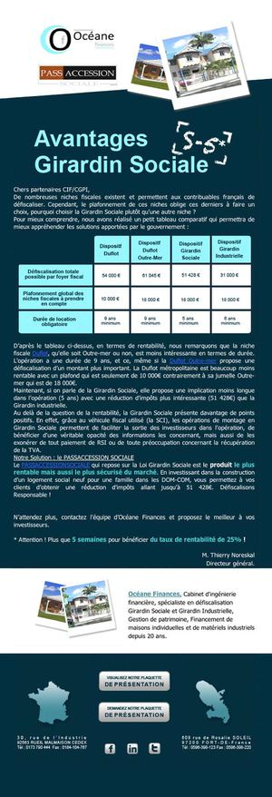 Emailing 13 - INFOS : Avantages Girardin Sociale (suite)