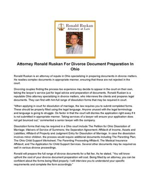 Calaméo Attorney Ronald Ruskan For Divorce Document Preparation In - Find legal documents