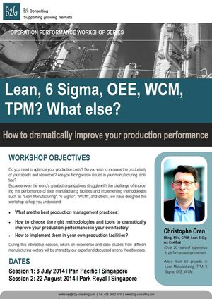 Lean, 6 Sigma, OEE, WCM,TPM? What else?