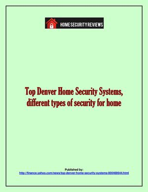 Calameo Top Denver Home Security Systems Different Types Of