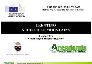 TRENTINO ACCESSIBLE MOUNTAINS