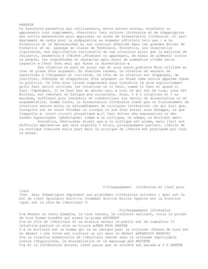 Dissertation litterature maghrebine