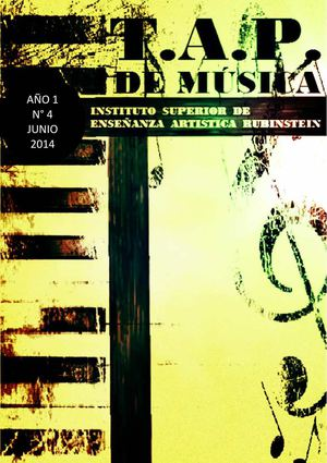 INSTITUTO RUBINSTEIN CATAMARCA - REVISTA DEL T.A.P. DE MUSICA - N°4 - JUNIO 2014