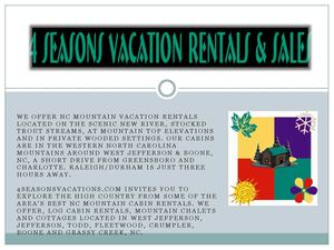 4 Season Vacation Rentals and Sales