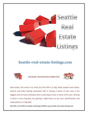 Buy Seattle Area Real Estate