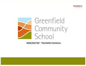 GCS - Webgreeter Training Manual