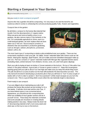 Starting a Compost in Your Garden