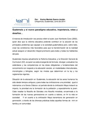 Reforma Educativa, retos y desafíos