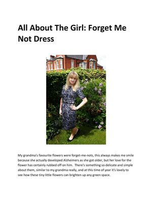 All About The Girl : Forget Me Not Dress