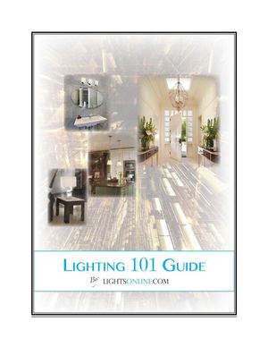 LightsOnline.com Lighting 101 Guide