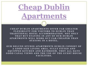 Cheap Dublin Apartments