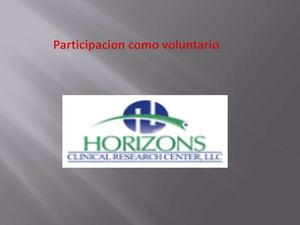 Participacion como voluntario