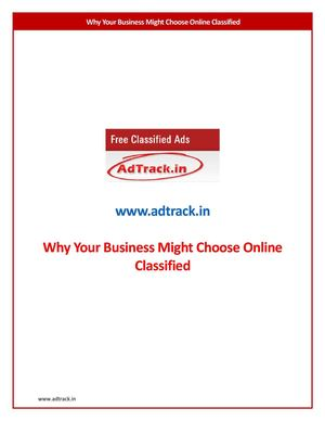 why your Business Might choose Online Classified