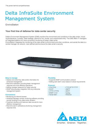 Delta InfraSuite Environment Management System - EnviroStation
