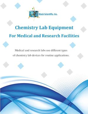 Chemistry Lab Equipment for Medical and Research Facilities