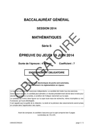 bac maths