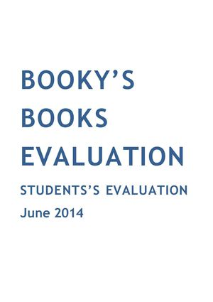 Students's evaluation results