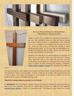 Calaméo - Ruventa Wooden Markers: Bring Divine Spirituality