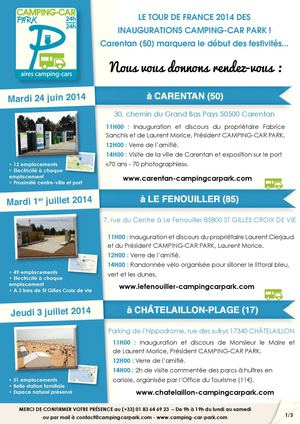 Programme des inaugurations