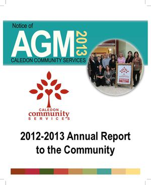 2012-2013 Caledon Community Services' Annual Report