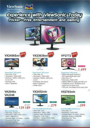 Viewsonic Singapore LED LCD Monitors Projector Price Brochure - Bizgram Asia