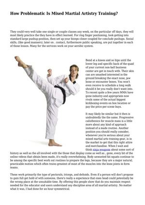 How Problematic Is Mixed Martial Artistry Training?