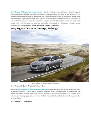 2015 Jaguar XF Coupe Concept, Redesign