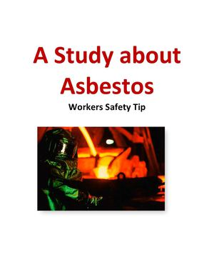A Study about Asbestos