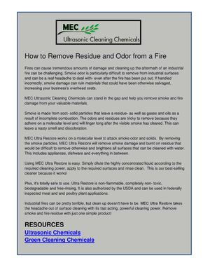 How to Remove Residue and Odor from a Fire