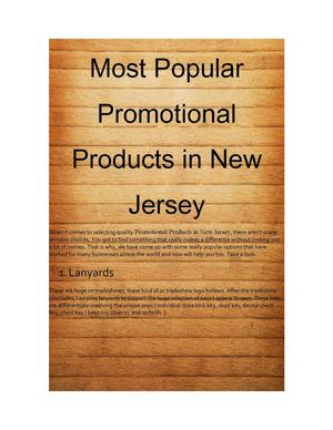 Custom Unique Promotional Products Giveaways Items New Jersey