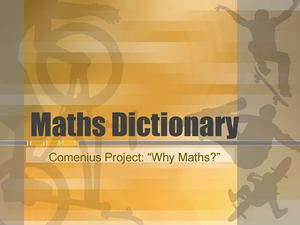 Multilingual Maths Dictionary