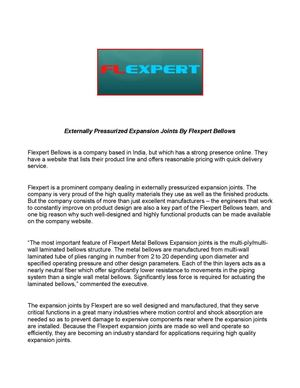 Externally Pressurized Expansion Joints By Flexpert Bellows
