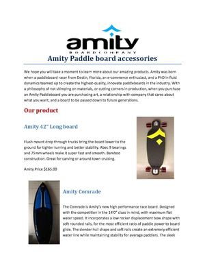 Amity Paddle board accessories