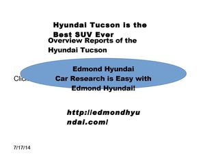 Overview Reports of the Hyundai Tucson