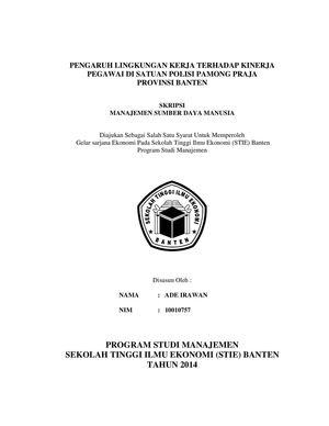 Judul Skripsi Manajemen Sdm Di Sekolah Kumpulan Berbagai Skripsi