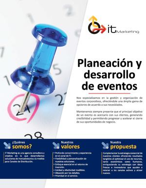 IT Marketing · Planeación y desarrollo de eventos