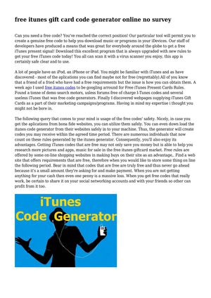 Get itunes gift card codes online