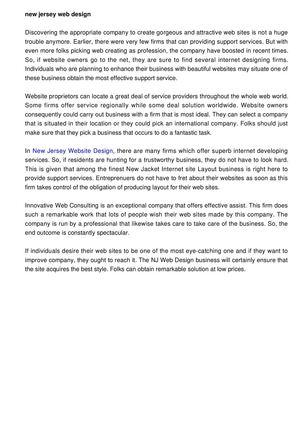 Calameo Web Design New Jersey