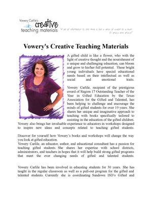 Calaméo - Vowery's Creative Teaching Materials