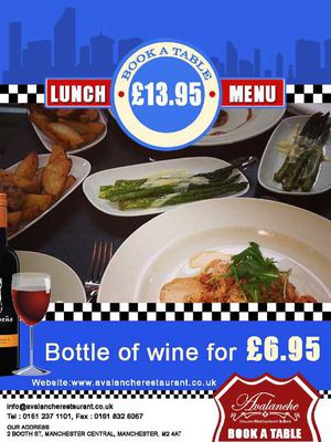Best Italian Lunch Menu In Booth Street Manchester At Avalanche