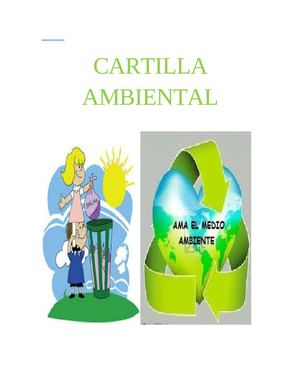 cartilla  de ambiental