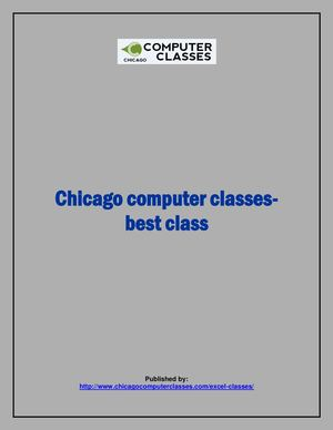 Chicago computer classes-best class