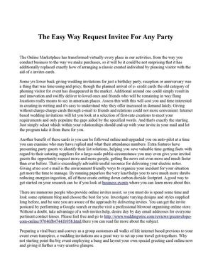 The Easy Way Request Invitee For Any Party