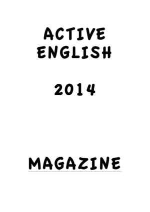 Digital Magazine - Active English 2014