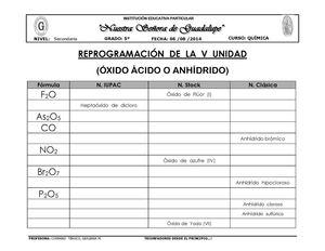 Calaméo Ejercicios De óxidos ácidos