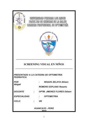 sisteme de screening vizual