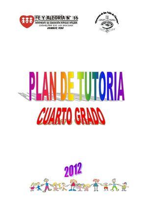 Calaméo - Plan de Tutoría para cuarto grado de Educación Primaria