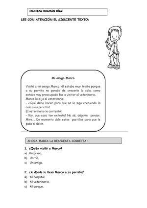 Calaméo - Fichas de lectura de segundo grado de primaria